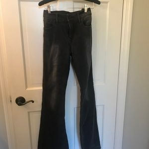 Express Grey Bell-Bottom Jeans (New, Size 8R)